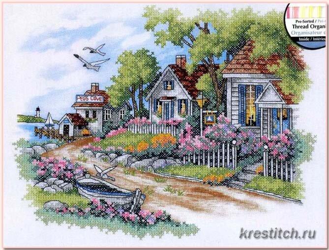 Схема вышивки дименшенс дом