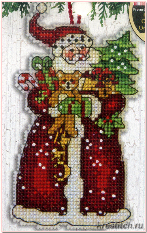 Санта вышивка дименшенс